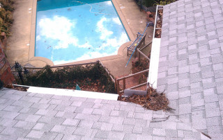 Even with gutter protection you should clean the roof and gutters once per year.