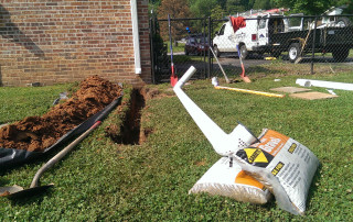 Downspout Drain Line | Higher Ground Chattanooga